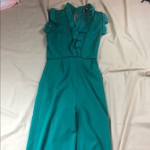 Blue green Adelyn Rae jumpsuit size XS